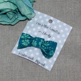 Barrette en Liberty Capel green turquoise