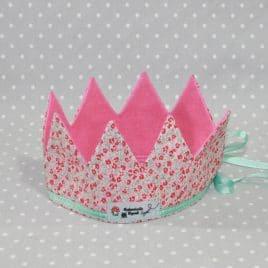 Couronne de Princesse à fleurs rose