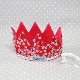 Couronne de princesse en liberty Mitsy rouge