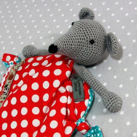 Wonder Mulot, doudou bébé, souris au crochet fait main 2