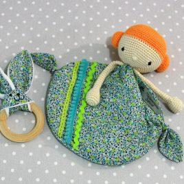 Millie, doudou bébé, poupée au crochet fait main