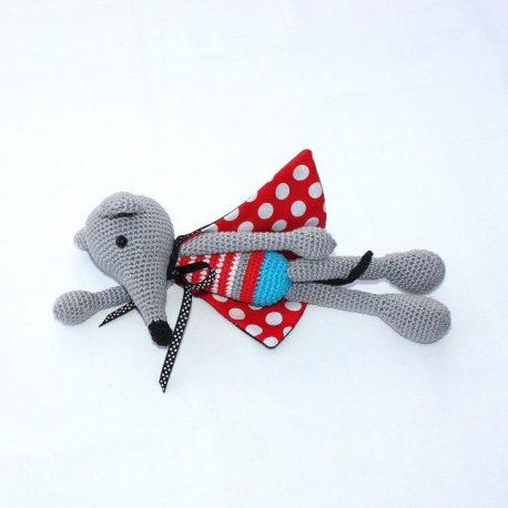 Super souris, doudou souris au crochet fait main 2
