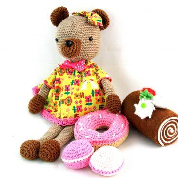 Mirou, doudou ours pour bébé au crochet
