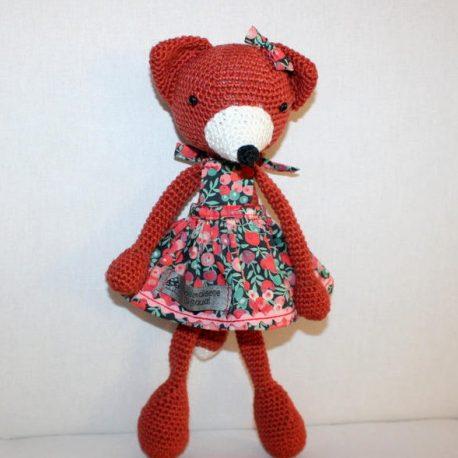 Philomène la renarde, doudou renard au crochet 3
