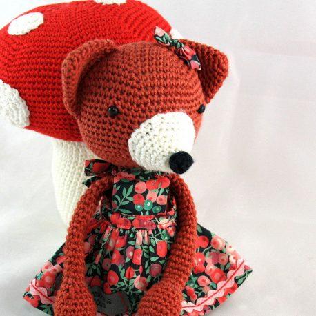 Philomène la renarde, doudou renard au crochet 2