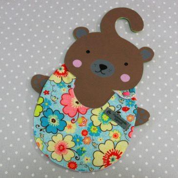 Bavoir bébé 0/8 mois thème hibou