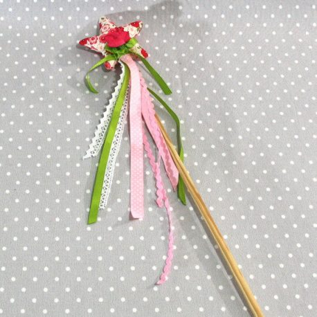 """Baguette magique """"Je suis une fée"""" fleurs fuchsia"""