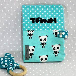 Protège carnet de santé personnalisable thème panda