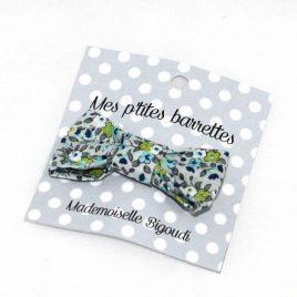 Mes petites barrettes de Mademoiselle Bigoudi/ pince crocodile fleurs bleues