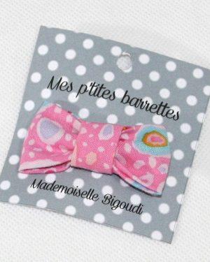 Mes petites barrettes de Mademoiselle Bigoudi/ pince crocodile rose