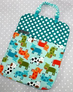 Bavoir bébé / Serviette de table pour enfant + clip attache doudou/ bavoir thème Vache