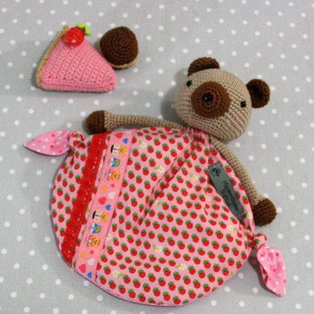 Wendy, doudou bébé, ours au crochet fait main