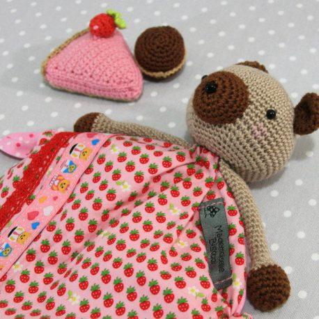 Wendy, doudou bébé, ours au crochet fait main 2