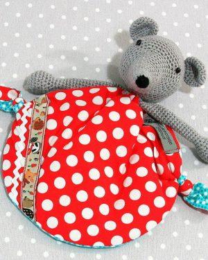 Wonder Mulot, doudou bébé, souris au crochet fait main