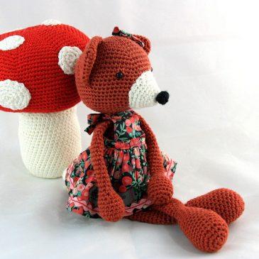 Philomène la renarde, doudou renard au crochet