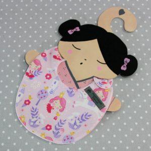 Bavoir bébé 0/8 mois thème princesse