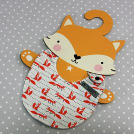 Bavoir bébé 0/8 mois thème renard/fox handmade baby bib
