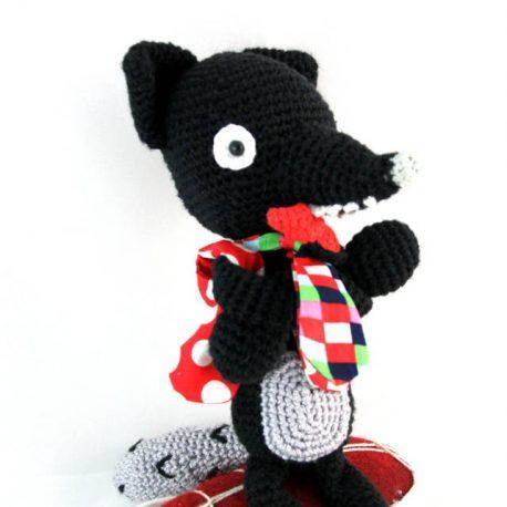 Loulou le loup, doudou loup au crochet 2