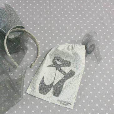 Pochon/petit sac en coton pour mes chaussons de danse