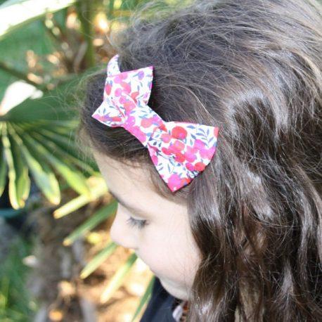 Serre-tête petit nœud/accessoire enfant Liberty Wiltshire rouge 2