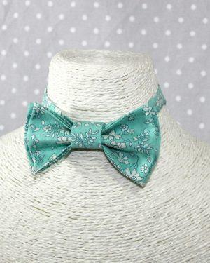 Nœud papillon pré-noué pour petit garçon sage (ou pas!) Liberty Capel turquoise ajustable de 3 à 8 ans