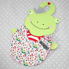 Bavoir bébé 0/8 mois thème roi grenouille