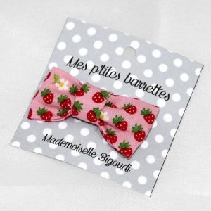 Mes petites barrettes de Mademoiselle Bigoudi/ pince crocodile fraises