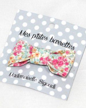Mes petites barrettes de Mademoiselle Bigoudi/ pince crocodile fleurs roses