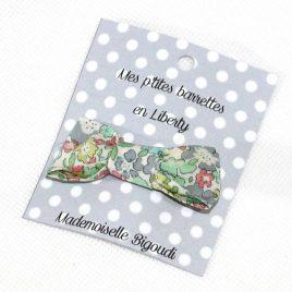 Mes petites barrettes de Mademoiselle Bigoudi/ pince crocodile Liberty Betsy turquoise/ corail