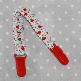 Clip attache bavette/serviette/doudou thème pommes