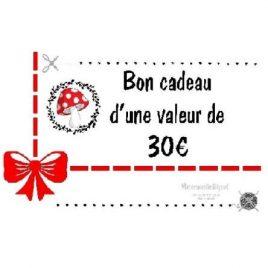 Bon cadeau 30 €
