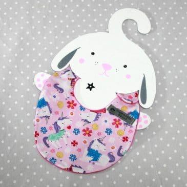 Bavoir bébé 0/8 mois thème licornes