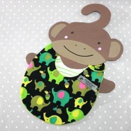 Bavoir bébé 0/8 mois thème éléphant