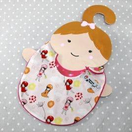 Bavoir bébé 0/8 mois thème fillettes
