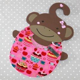 Bavoir bébé 0/8 mois thème pâtisseries