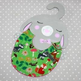Bavoir bébé 0/8 mois thème forêt