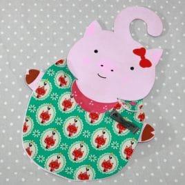 Bavoir bébé 0/8 mois thème chat