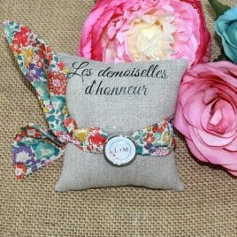 Bracelet à nouer pour femme en Liberty Michèle multicolore