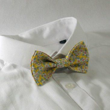 Nœud papillon pré-noué / ajustable pour homme Liberty Ffion jaune