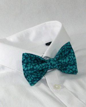 Nœud papillon pré-noué / ajustable pour homme Liberty Glenjade green turquoise