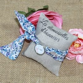 Bracelet à nouer pour femme en Liberty Whiltshire multi bleu