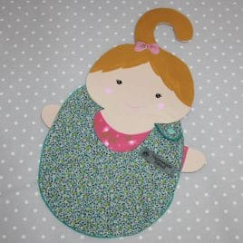 Bavoir bébé 0/8 mois thème fleurettes bleues
