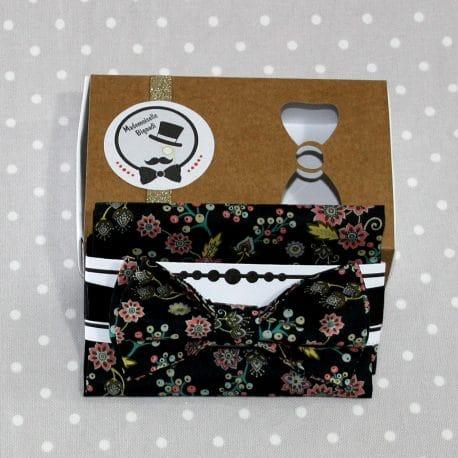 Nœud papillon pré-noué / ajustable pour homme Liberty Buds and Berries noir 2