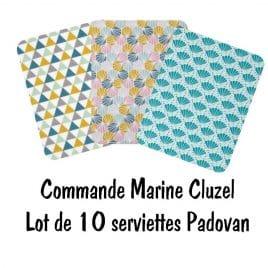 Commande Marine Cluzel lot de 10 serviettes Padovan