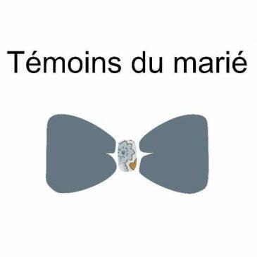 Mariage de Gilles et Marjorie nœud papillon témoins du marié homme