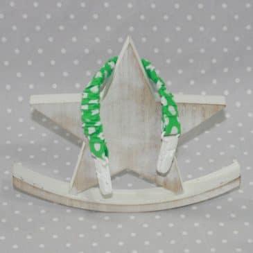 Clip attache bavette/serviette/doudou thème pois verts
