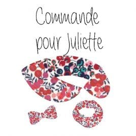 Commande spéciale pour Juliette Liberty Wiltshire multi rouge