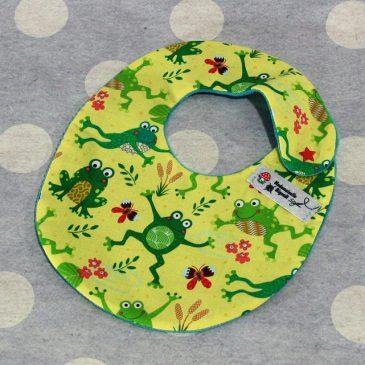 Bavoir bébé 0/8 mois thème grenouille