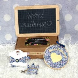 Box « Merci Maîtresse » Liberty Wiltshire multi bleu
