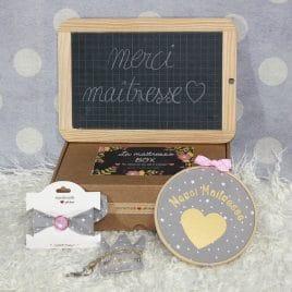 Box «Merci Maîtresse» étoiles gris